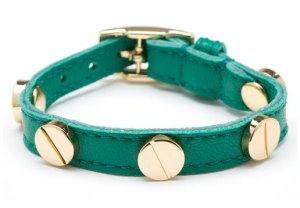 CC Skye Single Wrap Leather Screw Bracelet