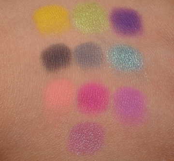 Make Up For Ever Eye Shadow Swatches