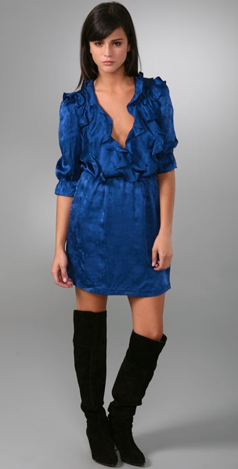Twelfth St. by Cynthia Vincent Crossover Ruffle Dress