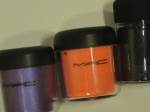 MAC Violet, Neo Orange and Starless Night Pigment