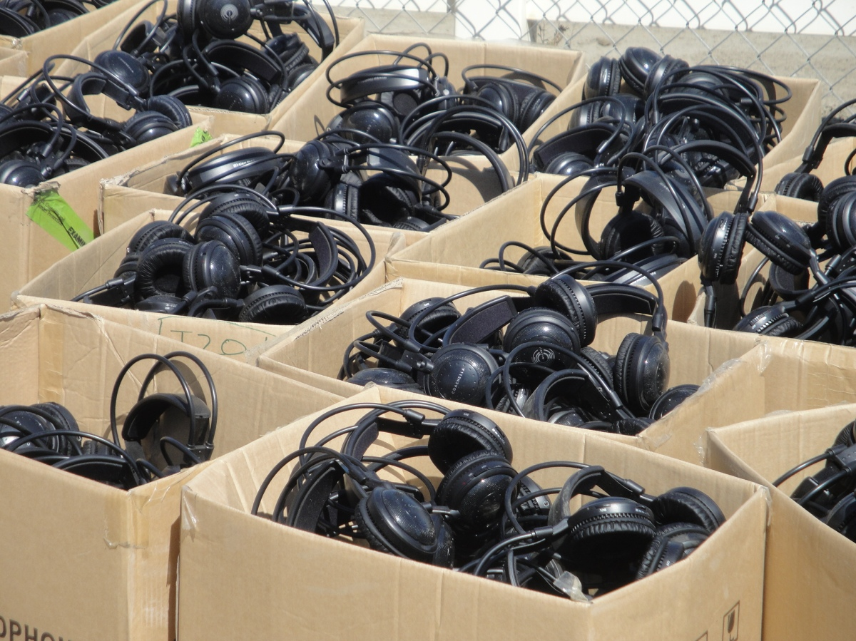 Headphones for silent dance party at Coachella 2012